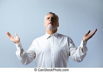 concepto, para, religión, y, oración,