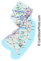 New Jersey State Interstate Map