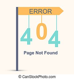 Page not found, 404 error Vector illustration