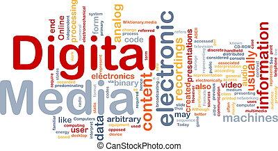Digital media background concept - Background concept...