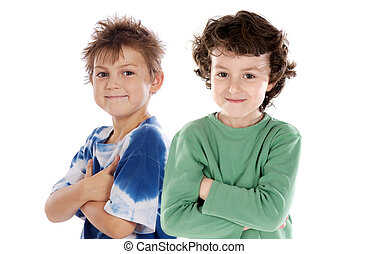 Funny couple of children
