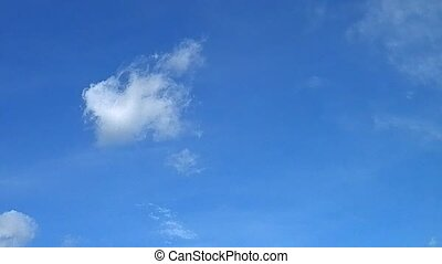 The cloud wanders blue sky. - Clouds wandering in the sky...