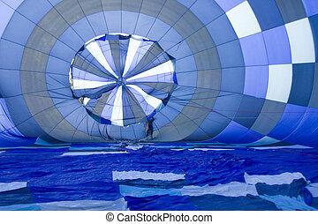 Hot air ballon - Inside of the hot air ballon.