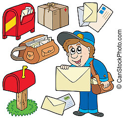 Mail collection on white background - vector illustration