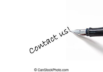 Contact us - The words contact us written with a fountain...