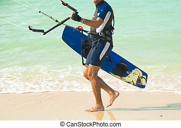 Kitesurfer all set for another ride