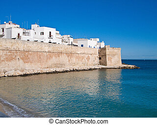 Ancient walls of Monopoli Apulia - These are an ancient...