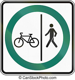 Shared Use Path With Separate Lanes in Canada - Regulatory...