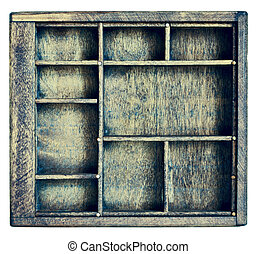 vintage typesetter or shadow box