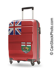 Suitcase with Canadian territory or province flag series -...