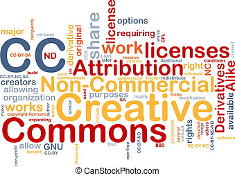 Creative commons background concept - Background concept...
