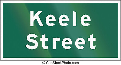 Street Name Sign In Ontario - Canada - A Street name sign in...