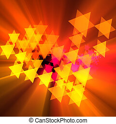 Celebration colorful stars concept glowing
