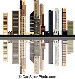 singapore skyline color