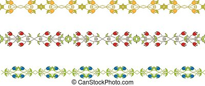 floral branch border - Set of floral branch border