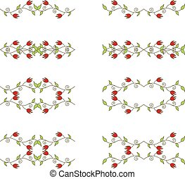 floral branch elements - Set of floral branch elements