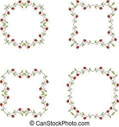 floral branch frames - Set of floral branch frames