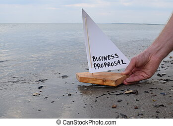 Abstract illustration of launching a business proposal