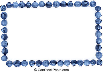 blueberry frame - fruit frame - blueberry