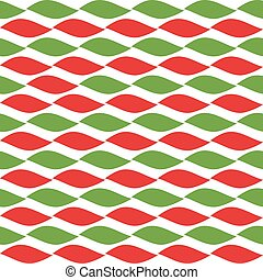 Simple retro geometric Christmas pattern. Traditional colors. Background can be copied without any seams. Garland.