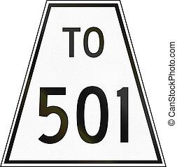 Ontario, carretera, dirección, protector, 501,