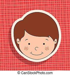 Boy design, vector illustration eps 10