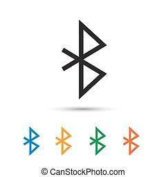 Bluetooth icon isolated on white Vector illustration