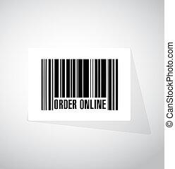 Order online barcode sign concept illustration design...