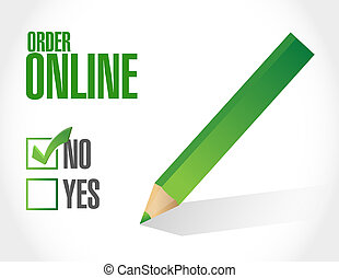 Order online negative concept illustration design graphic