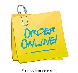 Order online memo post sign concept illustration design...