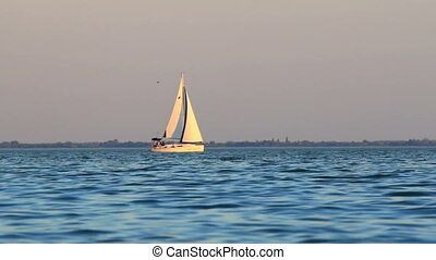 Sailboat in the lake Balaton from Hungary