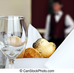 restaurant hotel table setting - table setting in restaurant...