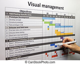 Updating the project plan using visual management. Done...