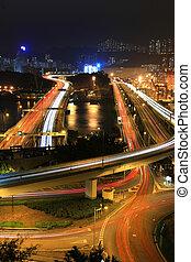 Cargo Terminal and highways of Hong Kong China