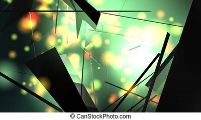 Broken Chaos - A digital animation of an abstract chaos with...