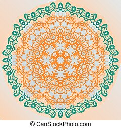 Ornate mandala design yoga karma yantra banner vector -...
