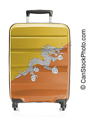 Suitcase with national flag series - Bhutan - Suitcase...