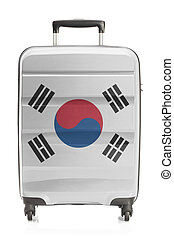 Suitcase with national flag series - South Korea - Suitcase...