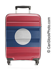 Suitcase with national flag series - Laos - Suitcase painted...