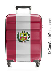 Suitcase with national flag series - Peru - Suitcase painted...