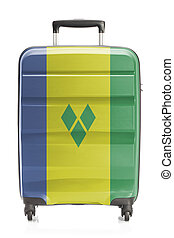 Suitcase with national flag series - Saint Vincent and the...