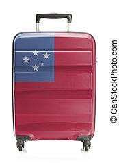 valigia, con, nazionale, bandiera, serie, -, Samoa,