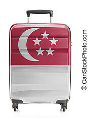 Suitcase with national flag series - Singapore - Suitcase...