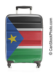 Suitcase with national flag series - South Sudan - Suitcase...