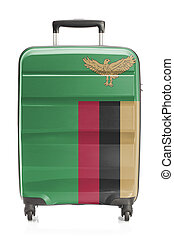 Suitcase with national flag series - Zambia - Suitcase...