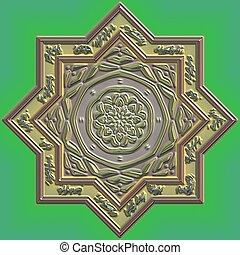 Mandala Eastern abstract design geometric pattern