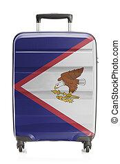 Samoa, serie, nazionale,  -, bandiera, americano, valigia