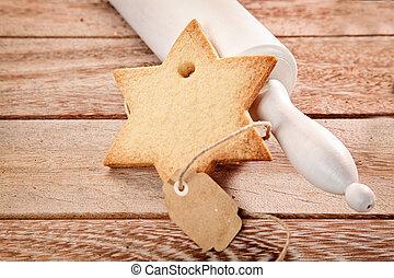 Traditional Christmas seasonal baking of cookies -...
