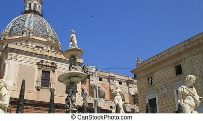 Fontana pretoria-sicily - Piazza Pretoria or Piazza della...
