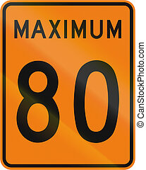 Temporary Maximum Speed 80 Kmh in Canada - Temporary road...